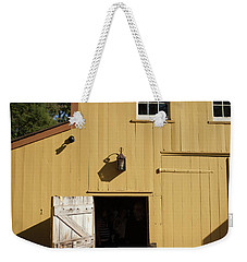 Close Up Of Landis Valley Yellow Barn Weekender Tote Bag