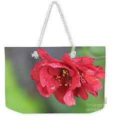 Close-up Of Red Flower Weekender Tote Bag