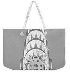 Close Up Of The Chrysler Building At Sunset. It Is The View From 42nd Street And 5th Avenue. Weekender Tote Bag