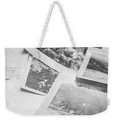 Close Up On Old Black And White Photographs Weekender Tote Bag