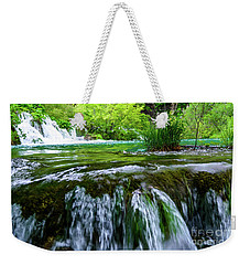 Close Up Waterfalls - Plitvice Lakes National Park, Croatia Weekender Tote Bag