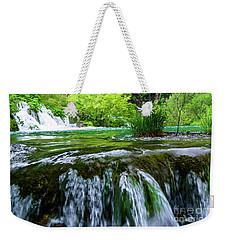 Close Up Waterfalls - Plitvice Lakes National Park, Croatia Weekender Tote Bag