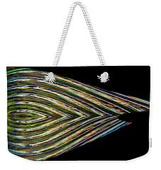 Weekender Tote Bag featuring the digital art Closed Eye by Wendy Wilton
