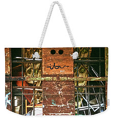 Weekender Tote Bag featuring the photograph Closed Up by Anne Kotan
