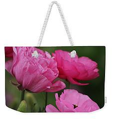 Closeup Deep Peony Pink Ranunculus Weekender Tote Bag