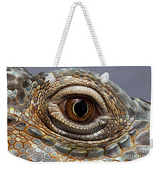 Closeup Eye Of Green Iguana Weekender Tote Bag