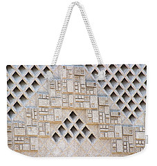 Closeup Of Federal Courthouse Roswell Weekender Tote Bag