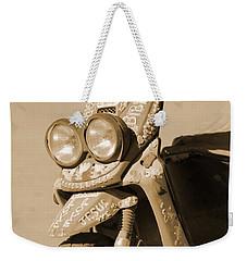 Closeup Of Jesus Scooter In Sepia Weekender Tote Bag