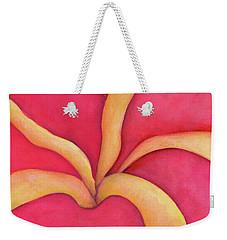 Closeup Of Red Rose Weekender Tote Bag