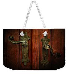 Closeup Of Two Ornamented Handles Weekender Tote Bag by Jaroslaw Blaminsky
