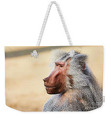 Closeup Portrait Of A Male Baboon Weekender Tote Bag