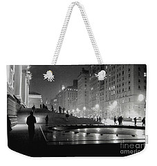 Weekender Tote Bag featuring the photograph Closing At The Met by Sandy Moulder