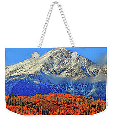 Weekender Tote Bag featuring the photograph Closing In On Fall by Scott Mahon