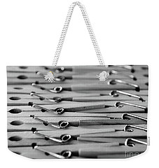Clothes Pins - Black And White Weekender Tote Bag