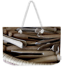Clothes-pins Weekender Tote Bag by Lainie Wrightson