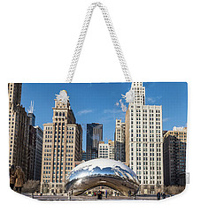 Cloud Gate To Chicago Weekender Tote Bag