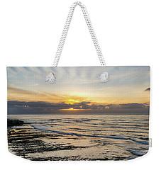 Cloud Rays Vertical Weekender Tote Bag