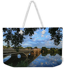 Weekender Tote Bag featuring the photograph Cloud Reflections On The Yakima River by Lynn Hopwood