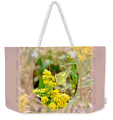 Clouded Sulphur Butterfly Sipping Nectar Weekender Tote Bag