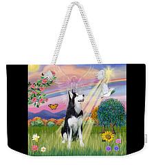 Cloudangel #1 - Siberian Husky Weekender Tote Bag