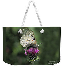 Clouded Apollo Butterfly Weekender Tote Bag