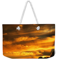 Clouded Sunset Weekender Tote Bag by Kyle West