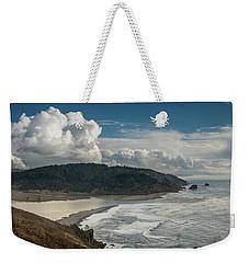 Clouds Above Coast Pano Weekender Tote Bag
