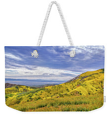 Weekender Tote Bag featuring the photograph Clouds Above Temblor Range by Marc Crumpler