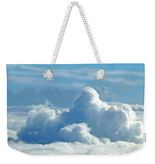Weekender Tote Bag featuring the digital art Clouds And Sky M2 by Francesca Mackenney