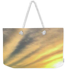 Weekender Tote Bag featuring the photograph Clouds And Sun by Sumoflam Photography