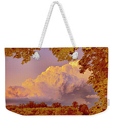 Clouds At Sunset, Southeastern Pennsylvania Weekender Tote Bag by A Gurmankin