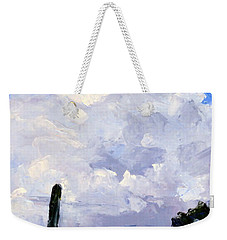 Clouds Building Weekender Tote Bag