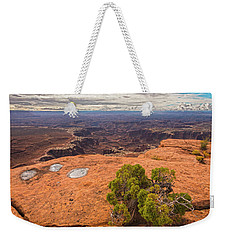 Clouds Junipers And Potholes Weekender Tote Bag by Angelo Marcialis