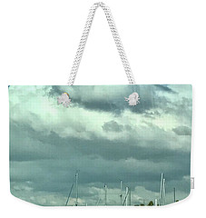 Clouds On The Bay Weekender Tote Bag by Kim Nelson