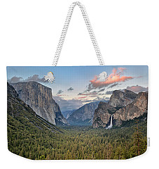 Clouds Over A Valley, Yosemite Valley Weekender Tote Bag by Panoramic Images