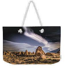 Clouds Over Alabama Hills Weekender Tote Bag by Janis Knight