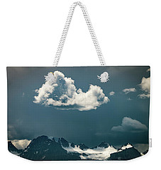 Weekender Tote Bag featuring the photograph Clouds Over Glacier, Banff Np by William Lee