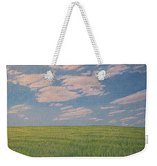 Clouds Over Green Field Weekender Tote Bag