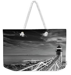 Weekender Tote Bag featuring the photograph Clouds Over Marshall Point Lighthouse In Maine by Ranjay Mitra