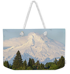 Clouds Over Mount Hood Closeup Weekender Tote Bag
