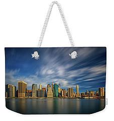 Clouds Over New York Weekender Tote Bag by Rick Berk
