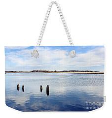 Weekender Tote Bag featuring the photograph Clouds Over The Mullica River by Colleen Kammerer