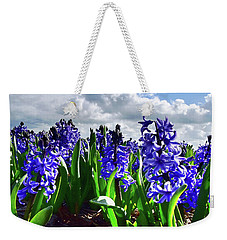 Clouds Over The Purple Hyacinth Field Weekender Tote Bag by Mihaela Pater