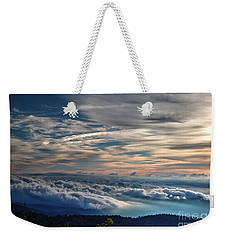 Weekender Tote Bag featuring the photograph Clouds Over The Smoky's by Douglas Stucky