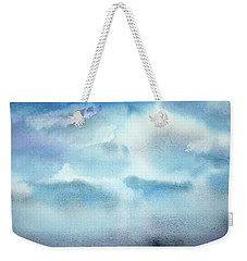 Weekender Tote Bag featuring the painting Cloudscape by Ellen Levinson