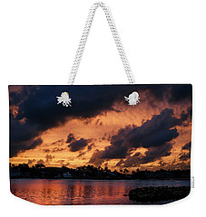 Weekender Tote Bag featuring the photograph Cloudscape by Laura Fasulo