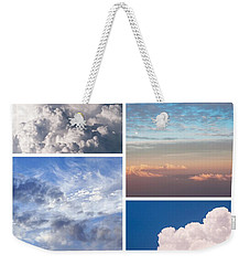Weekender Tote Bag featuring the photograph Cloudscapes Collage by Jenny Rainbow