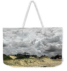 Weekender Tote Bag featuring the photograph Cloudy Beach By Kaye Menner by Kaye Menner