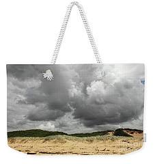 Weekender Tote Bag featuring the photograph Cloudy Beach II By Kaye Menner by Kaye Menner