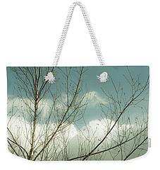Cloudy Blue Sky Through Tree Top No 1 Weekender Tote Bag by Ben and Raisa Gertsberg
